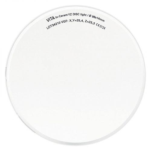 VITA In-Ceram YZ диск, колір LL1/світлий, Ø 98мм, h 14мм, 1шт
