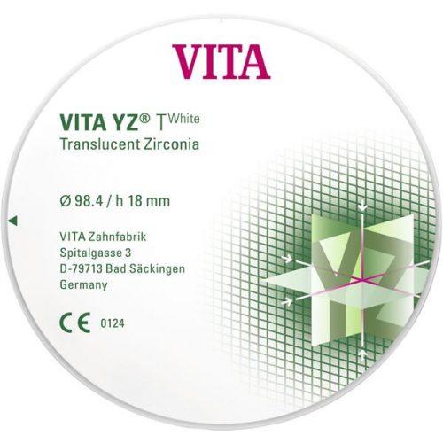 VITA YZ T транслюцентний цирконій, колір white-T, Ø 98.4мм, h 14мм