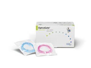 OptraGate 3D ретрактор для щік і губ, дитячий, колір блакитний+рожевий, 40 шт