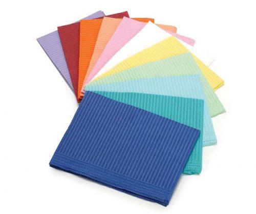 Нагрудники для пацієнта, 330×450 мм, колір лайм, 500шт