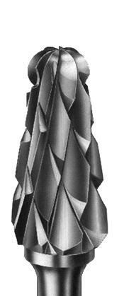 Фреза твердосплавна для обробки гіпсу, хрестоподібна насічка, діаметр 050