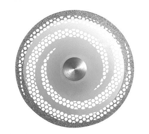 Диск алмазний перфорований, посилений спіраллю, діаметр 400