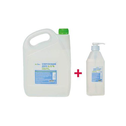 Хлоргексидин Дента 0,12% Еліксир зубний Антибактеріальний рідкий засіб ємність по 4000мл +1000мл, 5000мл