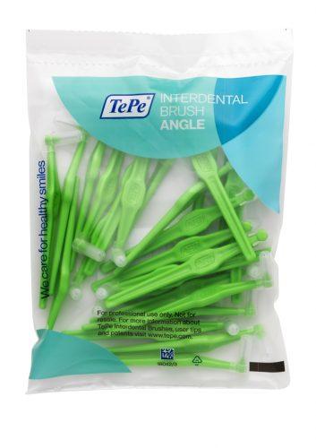 Щітка міжзубна кутова зелена, 0,8 мм, колір зелений, 25 шт.