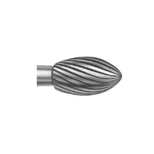 Бор твердосплавний, форма яйцеподібна, зернистість дрібна, діаметр 023