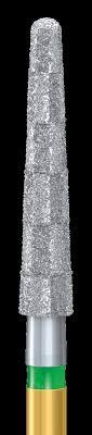 Діамантовий бор, конусоподібний похилий уступ, круглий, зернистість дрібна, діаметр 016
